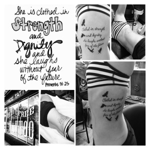 clothed in strength and dignity tattoo proverbs 31:25