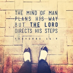 proverbs 16: 9, steps, footprints, plan your ways, god laughs, lord directs your steps, proverbs