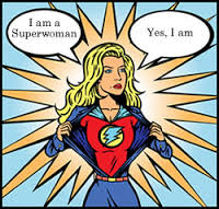 superwomen blonde